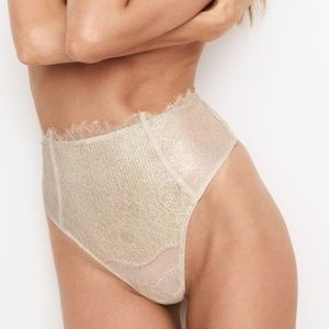 Victoria's Secret High Waist Thong Foil Lace